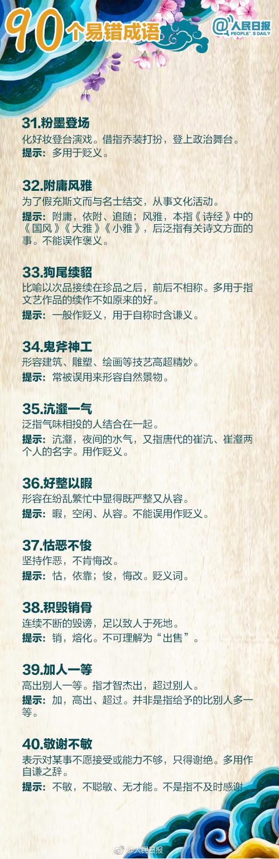 2020年江苏BOB足球体育考试中90个容易误用的成语