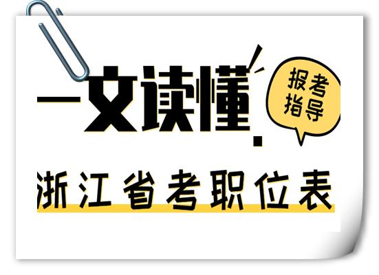 2020年浙江公务员考试职位表中有哪些内容?
