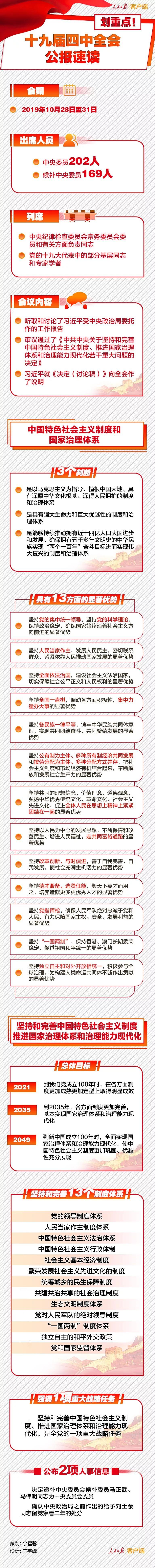 时政:十九届四中全会公报速读!
