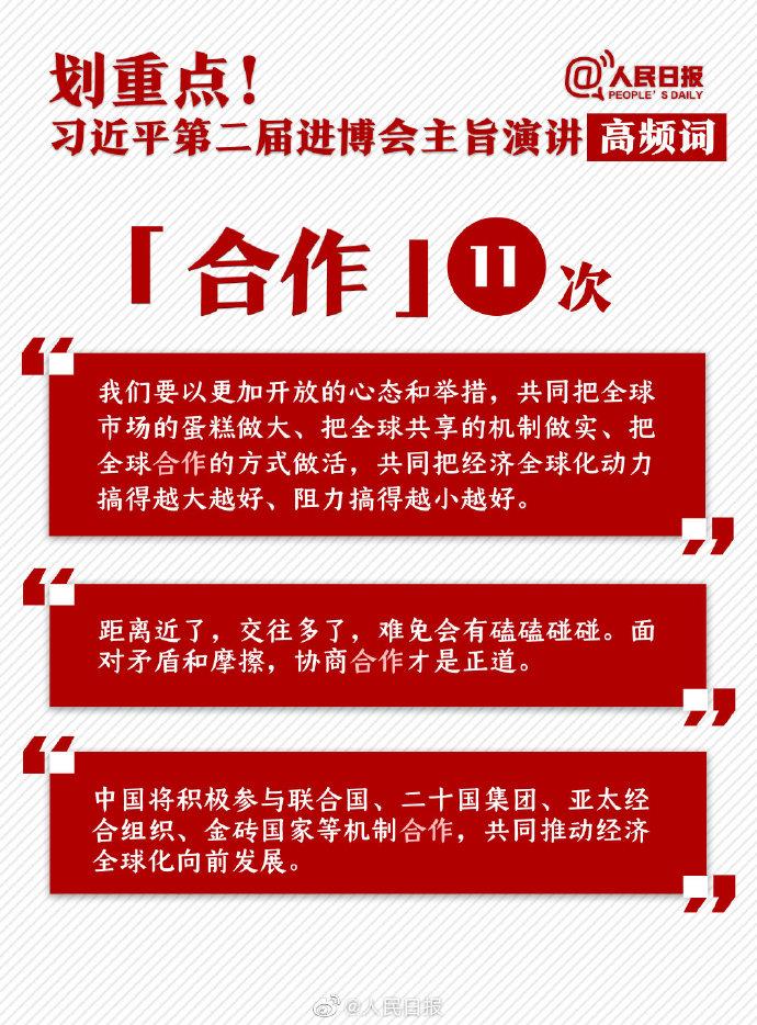 申论素材积累:习近平第二届进博会主旨演讲高频词