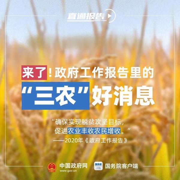 """公务员考试时政:<a href=http://dao.gzks.org.cn target=_blank class=infotextkey>政府</a>工作报告中的""""三农""""好消息"""